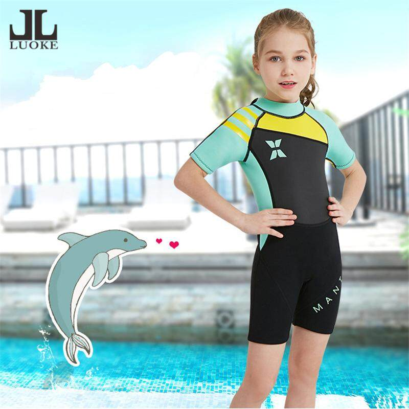 1d93d6bda0 Luoke children's comfortble diving suit 2.5MM one-piece short-sleeved and  shorts for