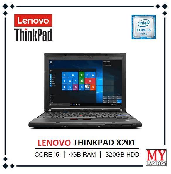 Lenovo Thinkpad X201 Laptop / 12.5 inch Display / Intel Core i5 / 4GB DDR3 RAM / 320GB HDD / WiFi / Windows 10 PRO Malaysia