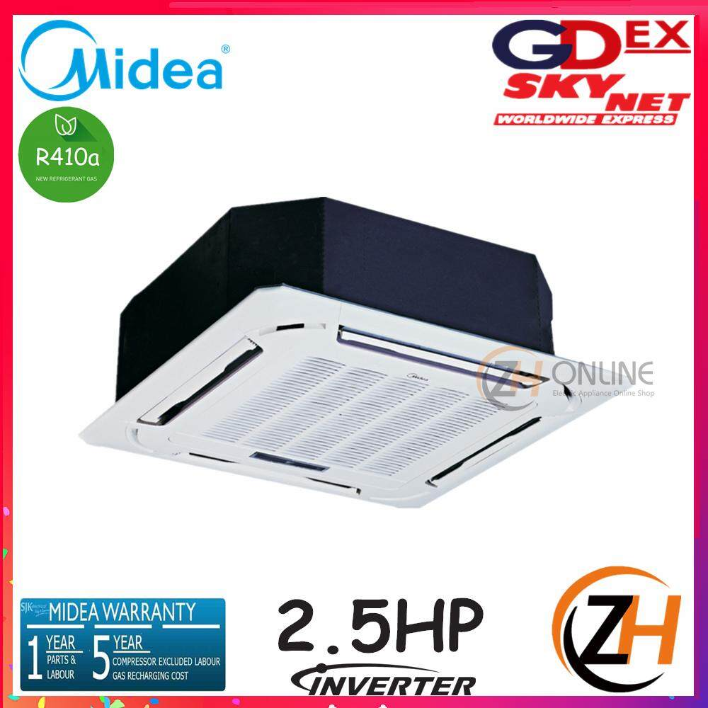 Midea 2.5HP DC Inverter Compact 4-Way Ceiling Cassette 360° Air Flow MCD-24CRFN1 & MOU-24CFN1 R410a