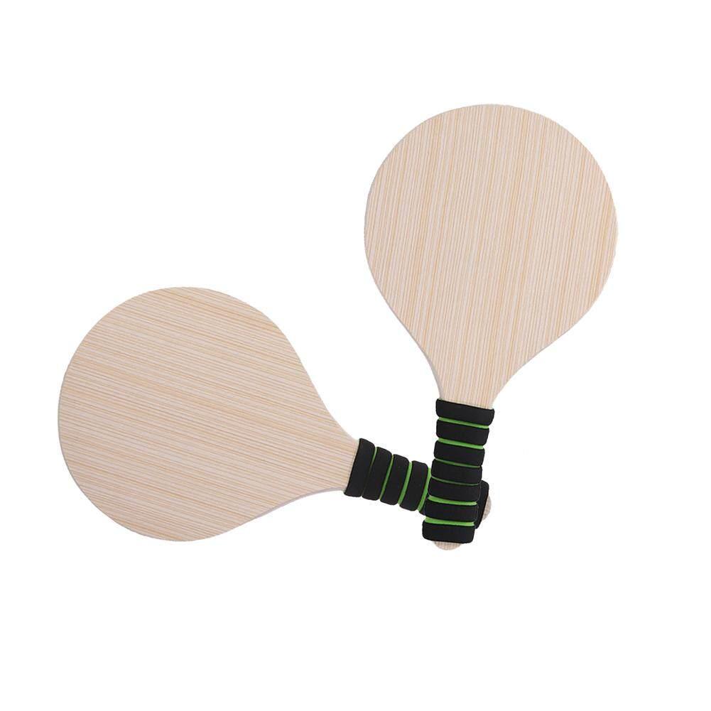 Wooden Kids Accessories Game Beach Anti-slip Outdoor Badminton Racquet Set