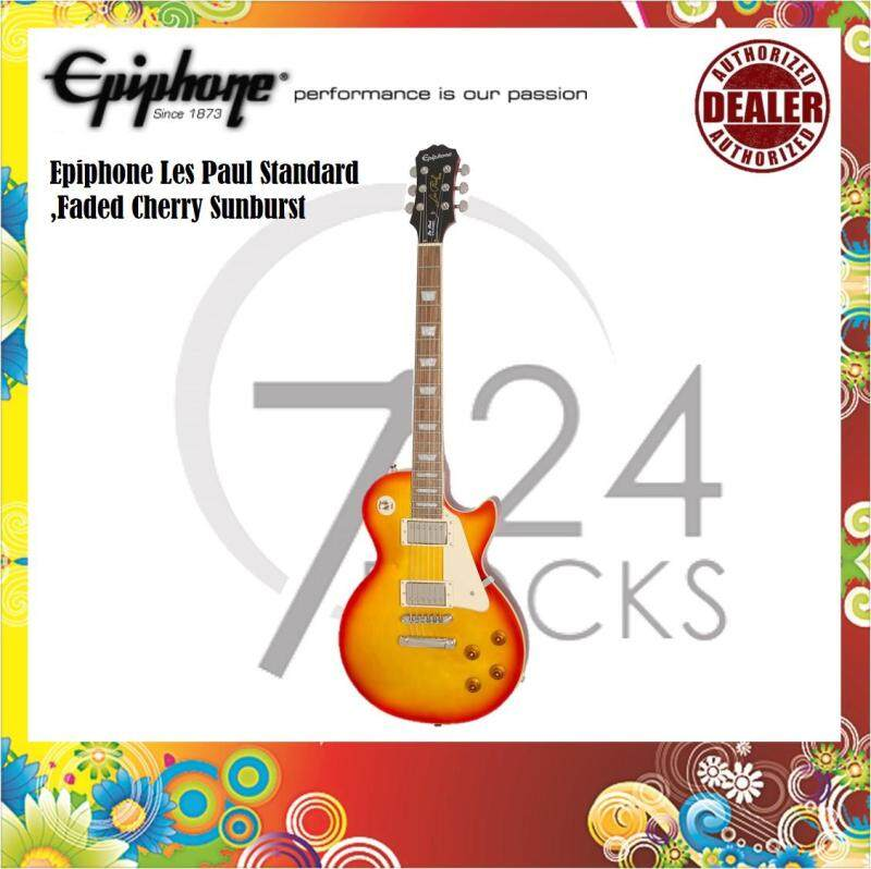 Epiphone Les Paul Standard Electric Guitar ,Faded Cherry Sunburst Malaysia