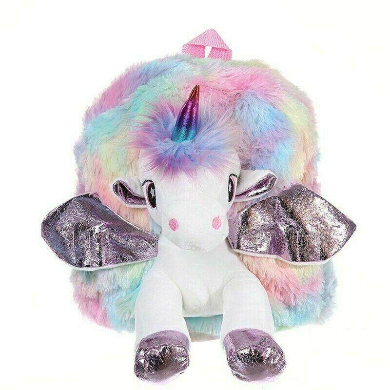 MeiYang Childs Unicorn with Plush Wing Backpack Kids School Rucksack Bags Fashion