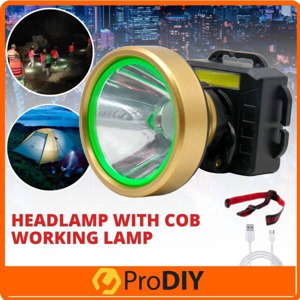 LED Headlamp Flashlight USB Rechargeable Headlight For Outdoor Camping Biking Hiking Fishing ( 615# )