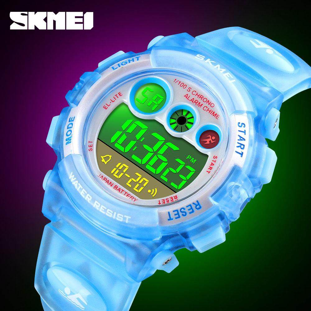 SKMEI Fashion Waterproof Children Boy Girl Watch Digital LED Watches Alarm Date Sports Electronic Digital Watch Dropship 1451 Malaysia