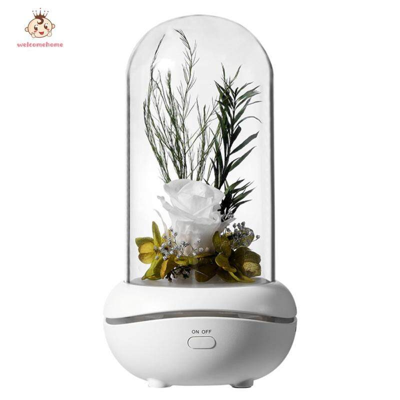 【welcomehome】7 Color LED Essential Oil Aroma Diffuser Immortal Rose Aromatherapy Lamp Singapore