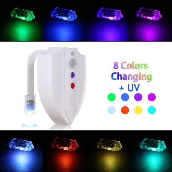 Bảng giá Suke UV Diệt Khuẩn Vệ Sinh Đèn Cảm Biến Chuyển Động Kích Hoạt RGB PIR Đèn Ngủ LED 8 màu dùng Pin Sáng Tạo Vệ Sinh đèn