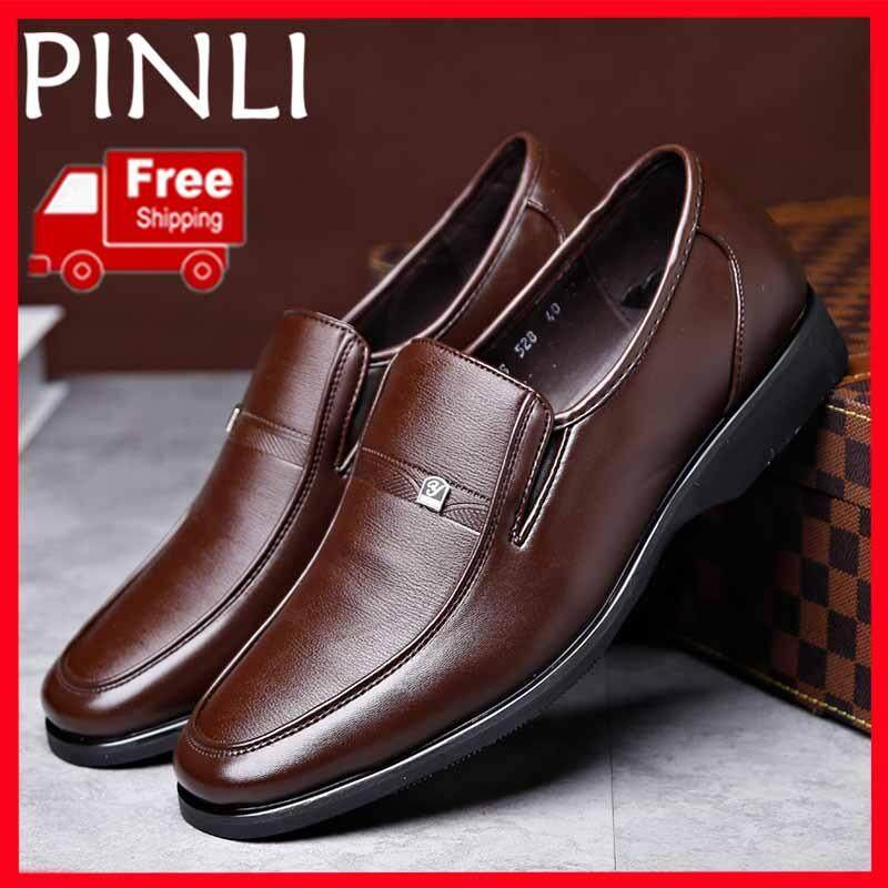 b1460d69563ce PINLI  Free Shipping  New Leather Men s Casual Shoes Fashion Driving Sandals  High Quality Men s
