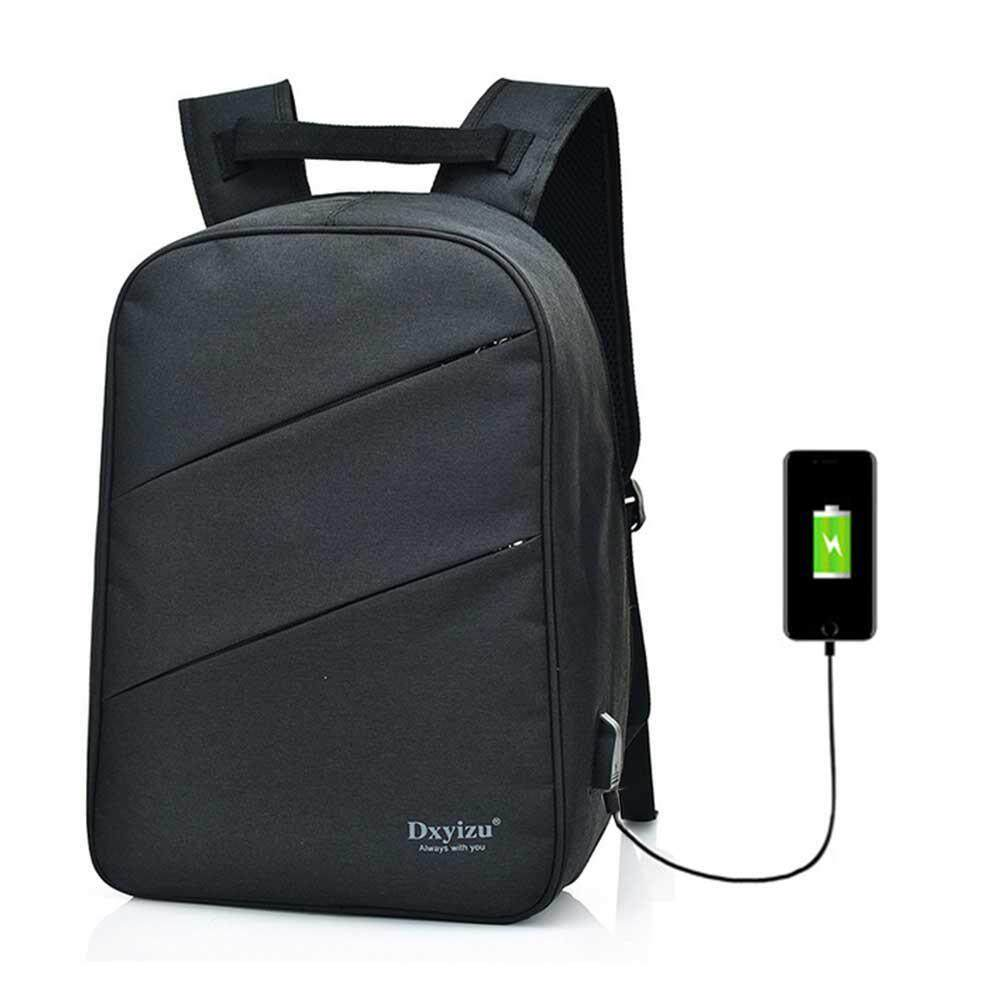fe0daadd958e Nostalgia Unisex Backpack Casual Large Multifunctional Durable Waterproof  Oxford Cloth Rucksack With USB Cable Plug For