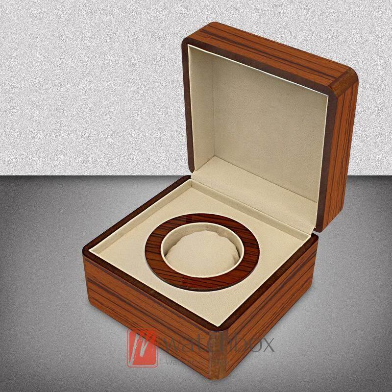 High grade wood grain MDF pu leather single watch case storage gifr box Malaysia