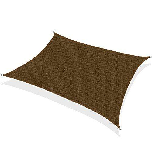 Khomo Gear Rectangular Sun Shade Sail 12 X 16 Ft Uv Block Fabric - Brown By Cross Border.