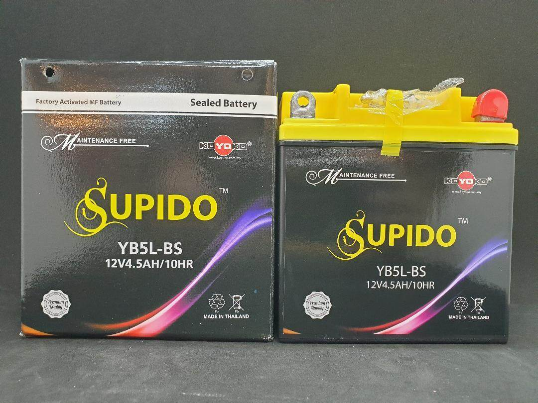 Koyoko Supido Seal Battery Yb5l-Bs By Power Up Motor.