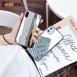 Ốp Điện Thoại Tráng Gương CASEIER Dành Cho iPhone 11 Pro Max Bảo Vệ Cạnh Mềm Màu Đen Ốp Lưng Sang Trọng Dành Cho iPhone XR X XS MAX, Ốp Trang Điểm Kỳ Diệu Cho iPhone 7 Plus 6Plus 8Plus thumbnail