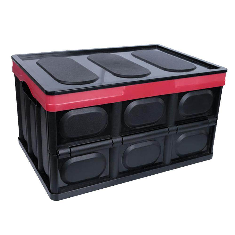 SeaLavender HOT SALE!Top Quality Collapsible Organizer Container Foldable for Car Grocery Storage Box with Lid,Sturdy Durable Cube Storage Bin