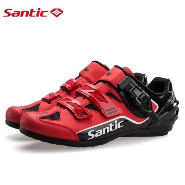 SANTIC giày đi xe đạp thể thao chuyên nghiệp cho nam không khóa thoáng khí chống trượt thích hợp cho hoạt động ngoài trời - INTL