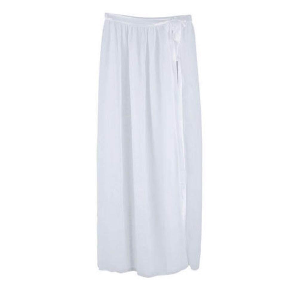 c142f09eaf434 Fashion Women Bikini Cover Up Swimwear Sheer Beach Maxi Wrap Skirt Sarong  Dress