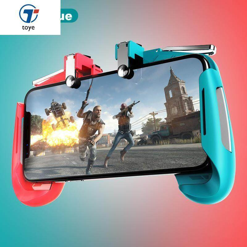 Dzhostik For Cellular Phone L1 R1 Triggers For Mobile Pubg Fornite Controller Free Fire Game Pad Joystick Cell Phone Gamepad Traveling Joysticks Video Games