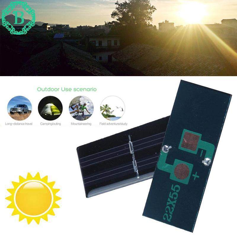 1V 60mA Solar Panel Module for Cell Phone Charger Cellphone Powered Toy 22x55mm*