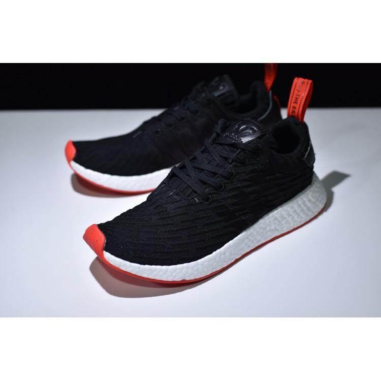 24b1ebafe Original ADIDAS NMD R2 Running Shoes Men Women Sneakers Primeknit White  36-44