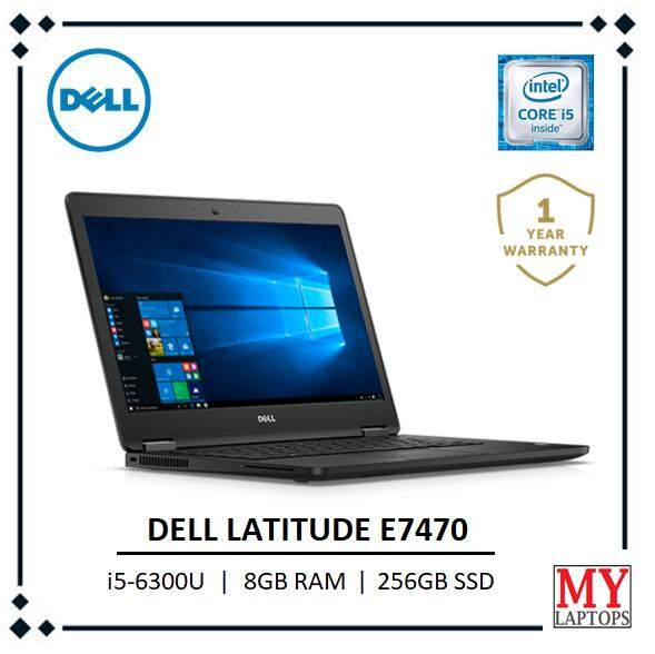 Dell Latitude E7470 Intel Core i5-6300U 2.4GHz 14 HD Anti-Glare ( 8GB 2133MHz DDR4 (1x8GB) 256GB SSD Windows 10 Pro 64-bit Ultrabook Malaysia