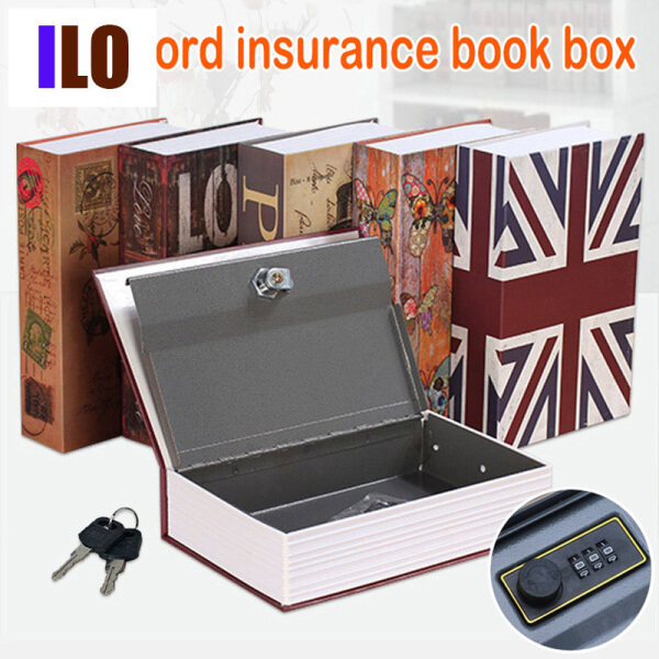 Dictionary Mini Safe Box Book Secret Security Safe Key Lock for Kid Gift Durable