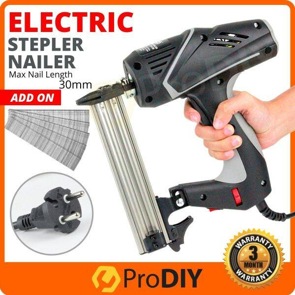 ST-F30 (BLACK) Profesional Electric Nailer Staple Gun 6 Speed 2500W For 10-30mm Woodworking Tools