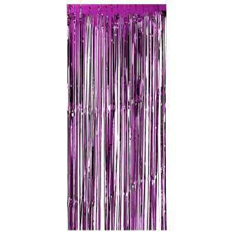 92*245 เซนติเมตรแผ่นฟอยล์เมทัลลิกผ้าม่านมีพู่ Tinsel Shimmer หน้าต่างม่านประตูฉากหลังผนังแผงตกแต่งสำหรับงานแต่งงาน Christmas PARTY-