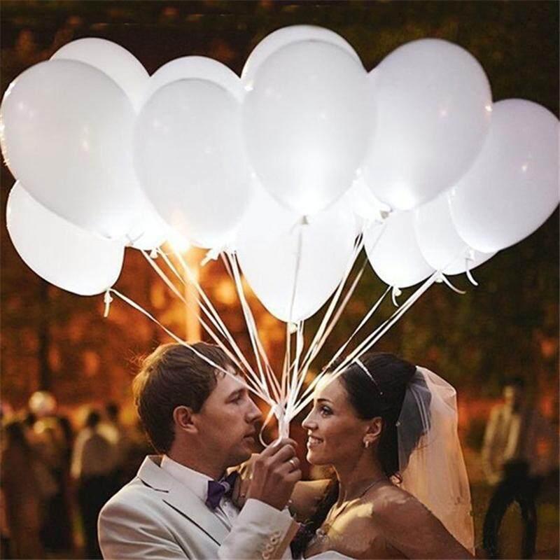 เรืองแสงบอลลูนสีขาว 12 เซนติเมตรสวยงามงานแต่งงานคริสต์มาสลูกโป่ง Led บอลสว่างขึ้น By Lightning.