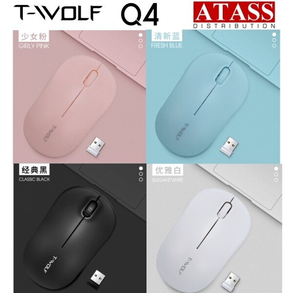 T-Wolf Q4 2.4GHz Wireless Mouse USB Optical Mouse. Similar to mx350 mx450 m170 m238 m331 m221 m100 M330 m185 TWOLF G103 Malaysia