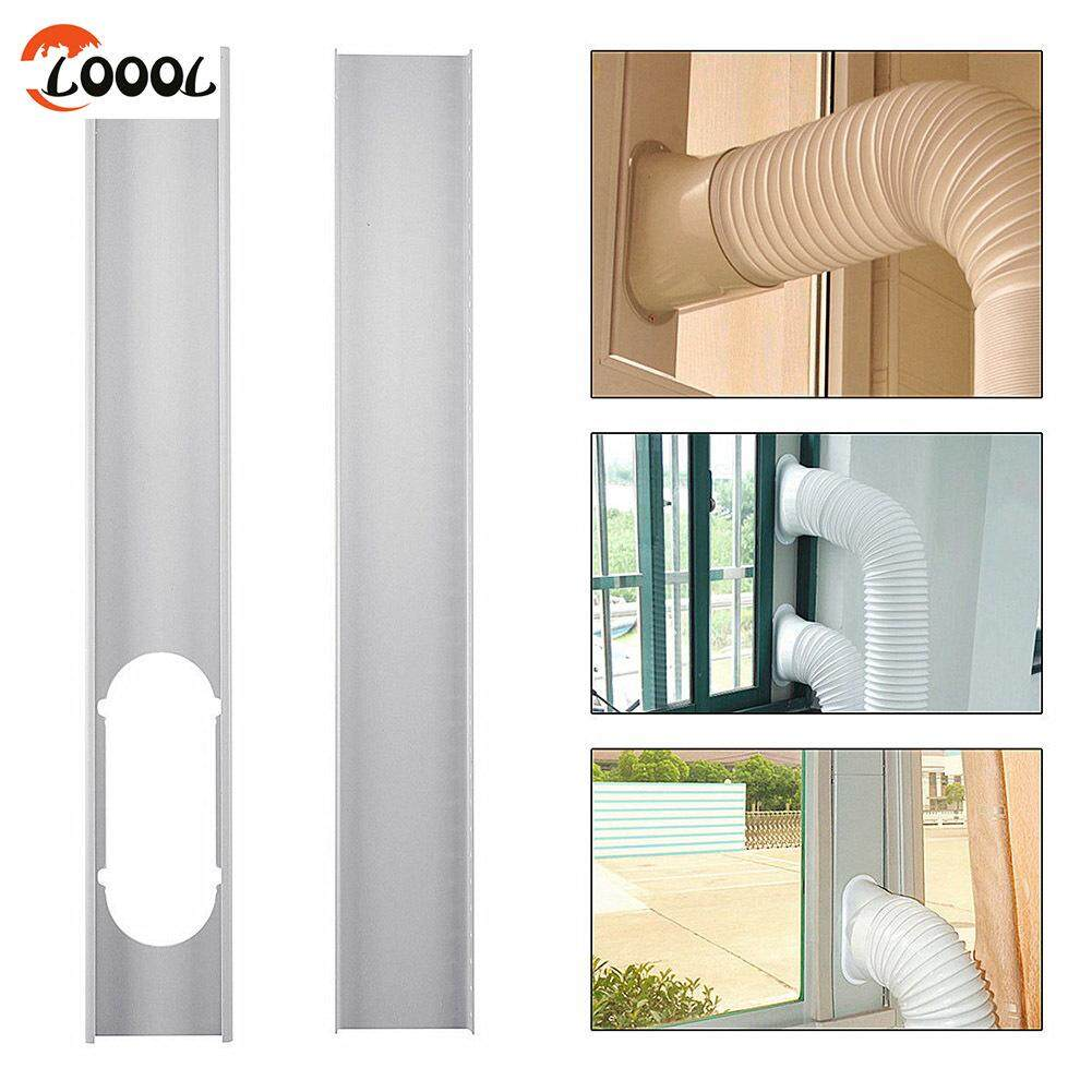 Loool 2 Pcs หน้าต่างแบบปรับได้เพลตชุดท่อระบายไอเสีย/หลอดสำหรับเครื่องปรับอากาศพกพา By Loool.
