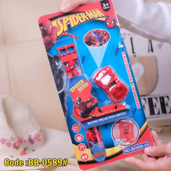 Kids Watch Spiderman Racing Projection Watch Exquisite Fashion 3+ Ages Malaysia