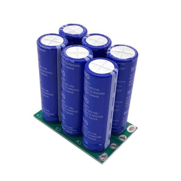 6 Cái Tụ Siêu 16V 16.6F Dòng Điện Cao 2.7V 100F Ultracapacitor Hai Hàng Cho Bộ Chỉnh Lưu Ô Tô Xe Hơi