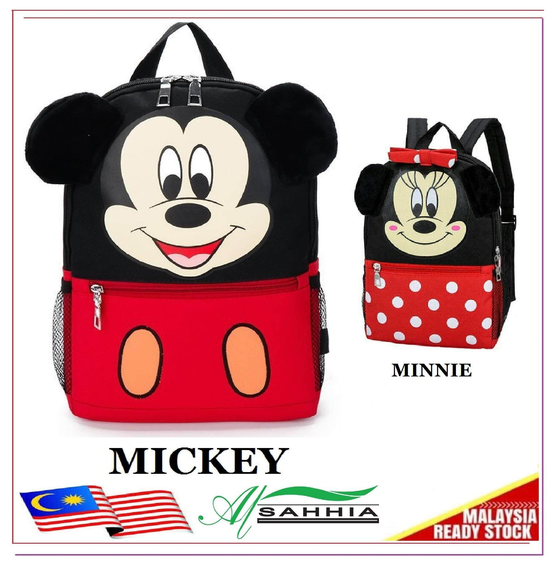 98aa31f3c 4P2 Al Sahhia Ready Stock Mickey Minnie School Bag Backpack Travel Casual