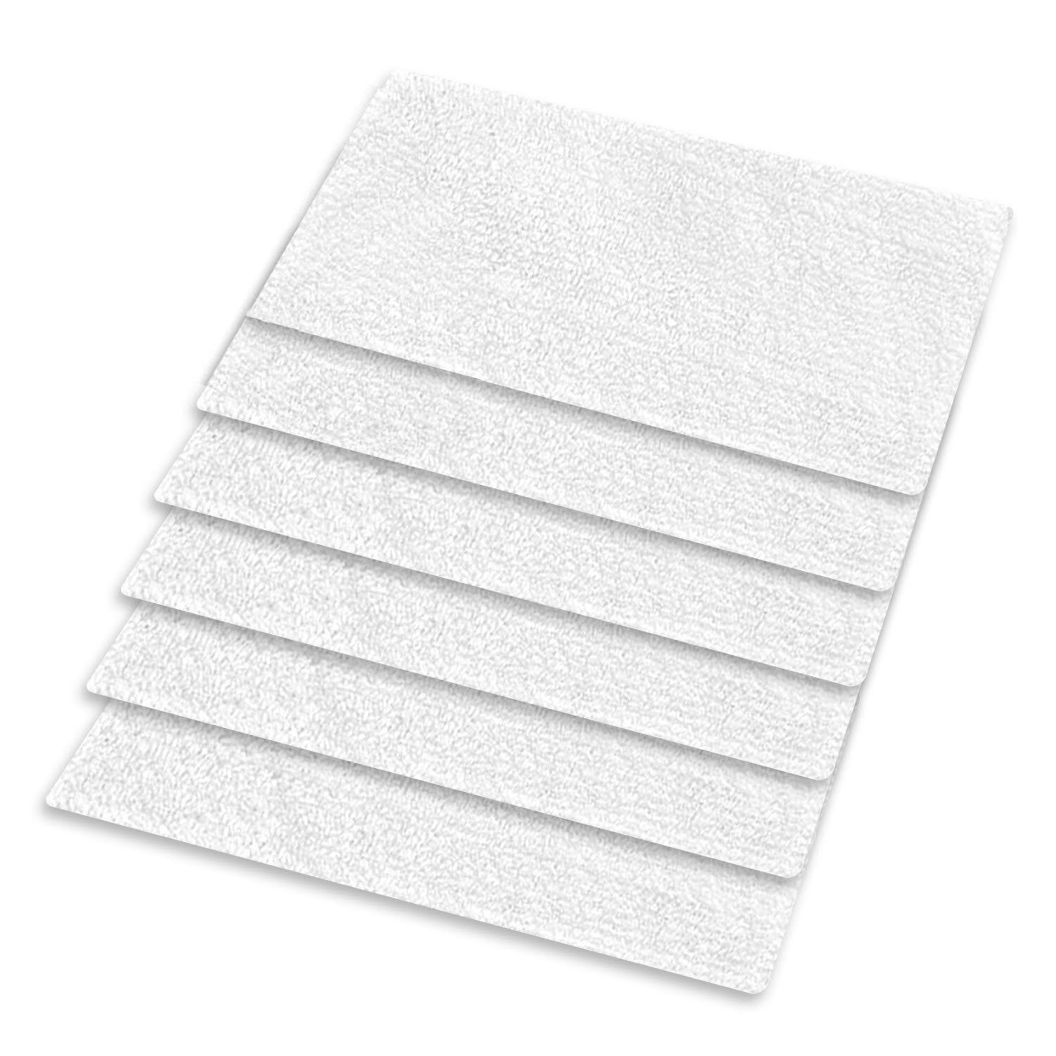 6Packs Washable 3 Layers Microfiber, Replacement Steam Mop Pads For Most Hard Flooring Surface For Light N Easy S3101/S7326