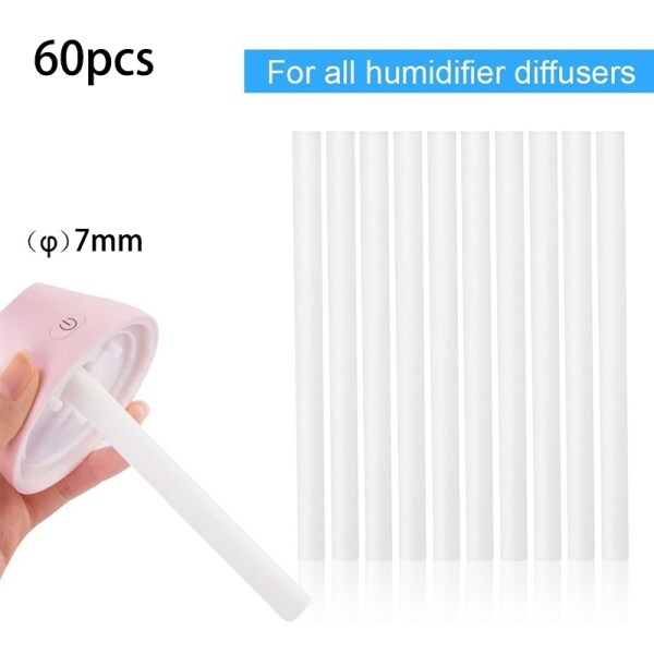 60Pcs Humidifier Filters Replacement Cotton Sponge Stick for USB Humidifier Aroma Diffusers Mist Maker Air Humidifier Singapore