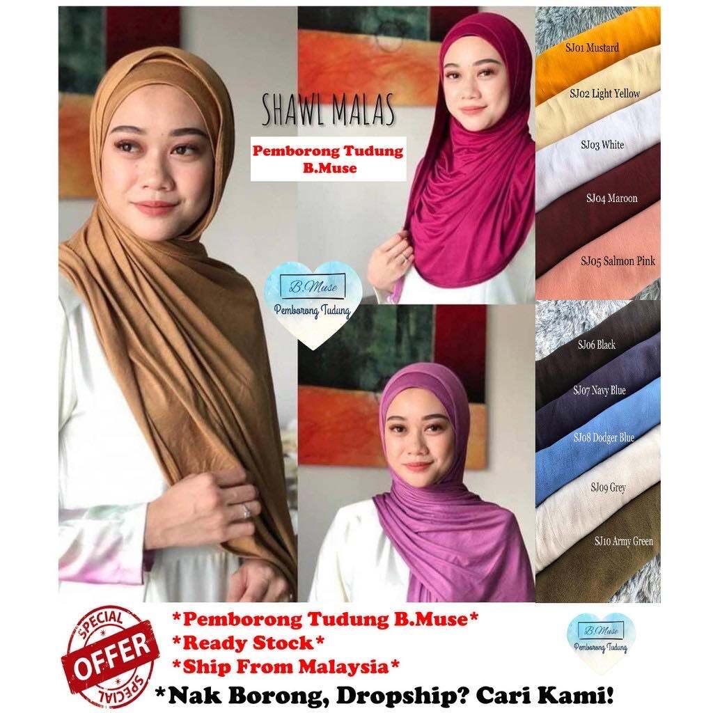 Promosi Terbaik Cotton Jersey Shawl Malas Borong Tudung Muslim Hijabs Shawl Tudung Long Pashmina Head Scarf Arab Lazada