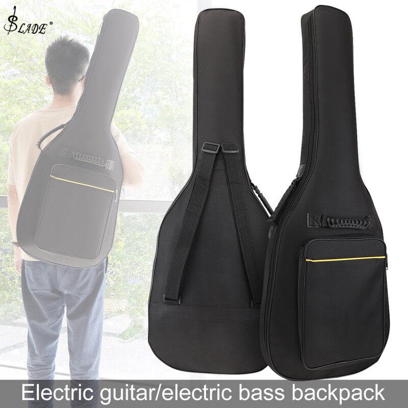 SLADE Electric Guitar Bass Backpack 8mm Sponge Waterproof Oxford Fabric Portable Guitar Bass Gig Bag Malaysia