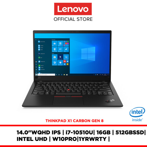 Lenovo notebook laptop ThinkPad X1 Carbon Gen 8th 20U9S03E00 14/i7/16GB/512GB SSD/W10PRO/1 YR WRTY/FREE:BACKPACK,MOUSE,3YR WARRANTY Malaysia