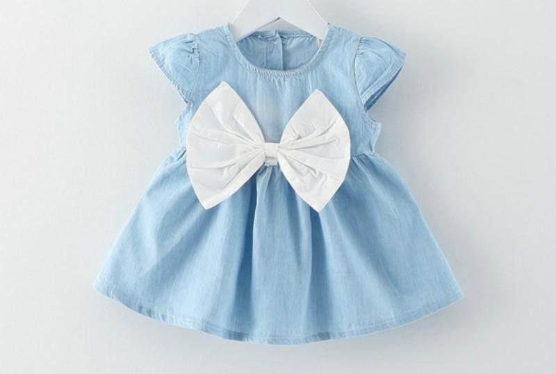 ฤดูร้อนเด็กทารก Bowknot ชุดเจ้าหญิงสำหรับ 0-6 ปีเด็ก