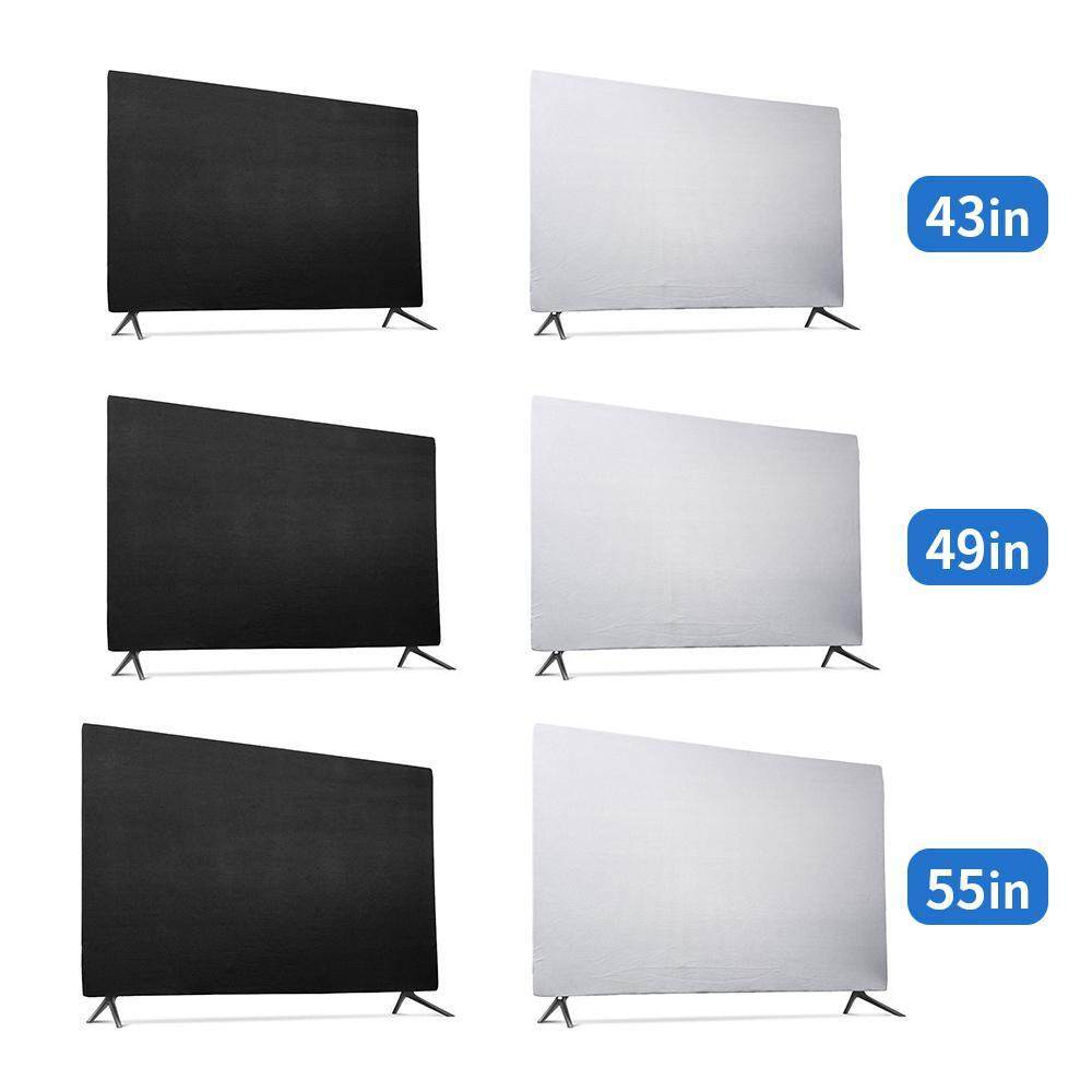 "55, Black Indoor TV Set Cover Soft Lycra Fabric Universal 55/"" Flat Screen Dust-Proof Protector"