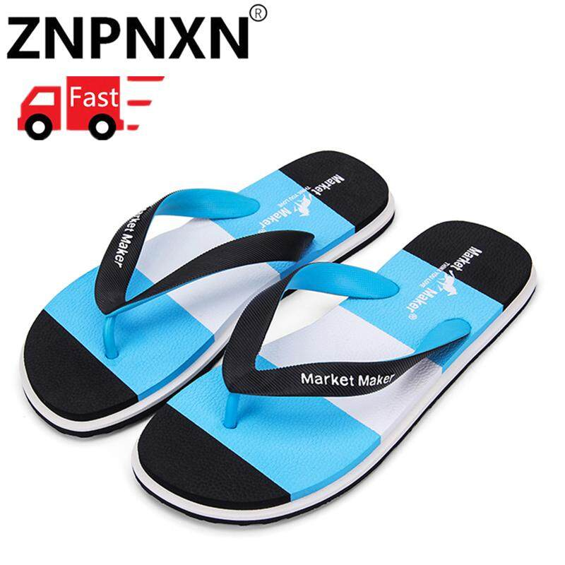 632224cca4ab ZNPNXN Flip Flops Rubber Male Slippers Summer Fashion Beach Sandals Shoes  For Man Plus Size