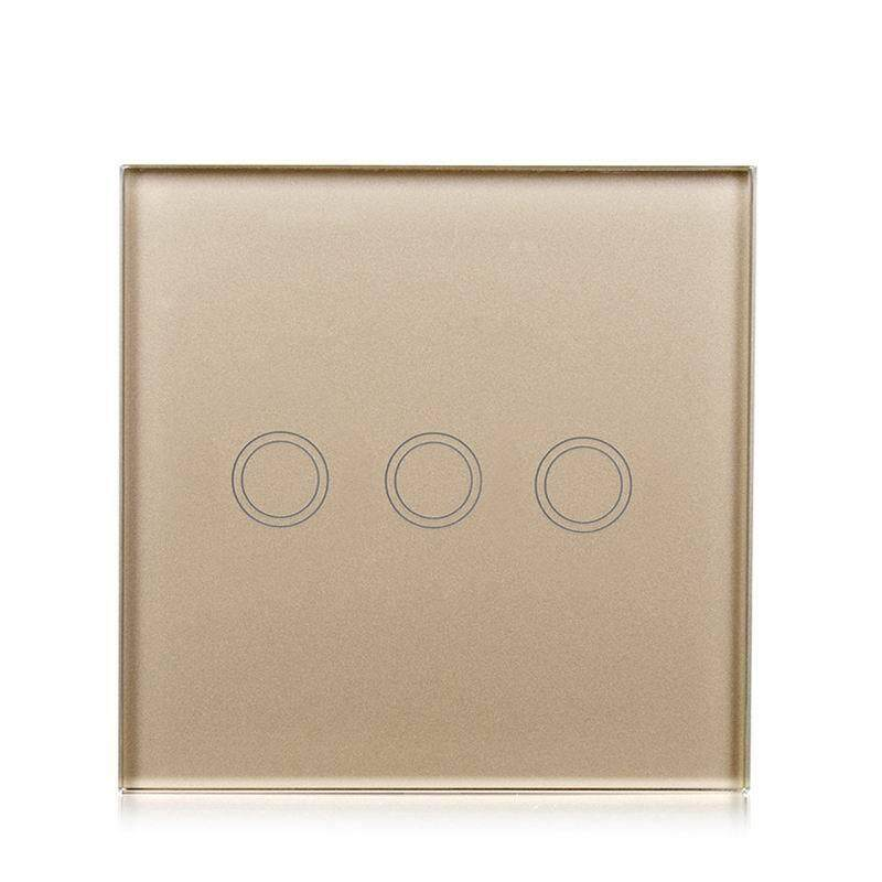SC Touch Switch with 3 Single Control Channels EU/UK Regulation Models:3 way gold