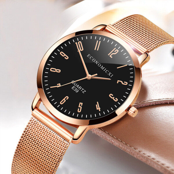 SNKJKW Ultra thin Ladies Watch Women Rose Gold Stainless Steel Quartz Wrist Watch watch for women sale original new best seller black Malaysia