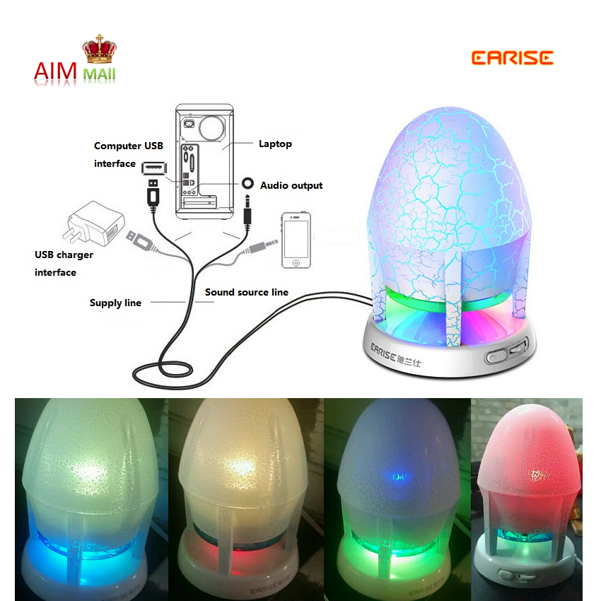 EARISE 360º Stereo with Light Bass and Flashing Lights USB Speaker (Ice Cracked Edition) Malaysia