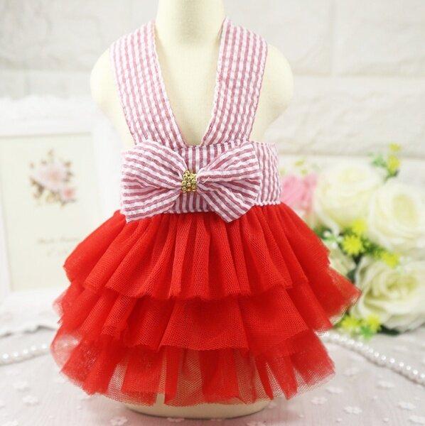 DY Yêu Váy Cho Chó Công Chúa Nút Thắt Nơ
