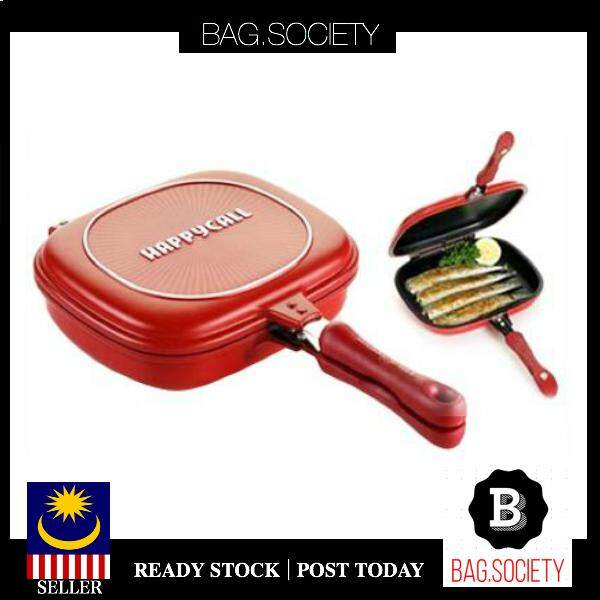 BAG SOCIETY - 32cm Happy Call Multipurpose Double Side Grill Pan Korean Non  Stick Foldable Pan