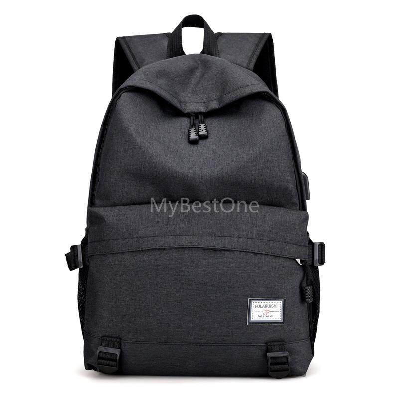 8976ba3689 MBO Men s Computer Bag Solid Color Backpack With WiFI Connector