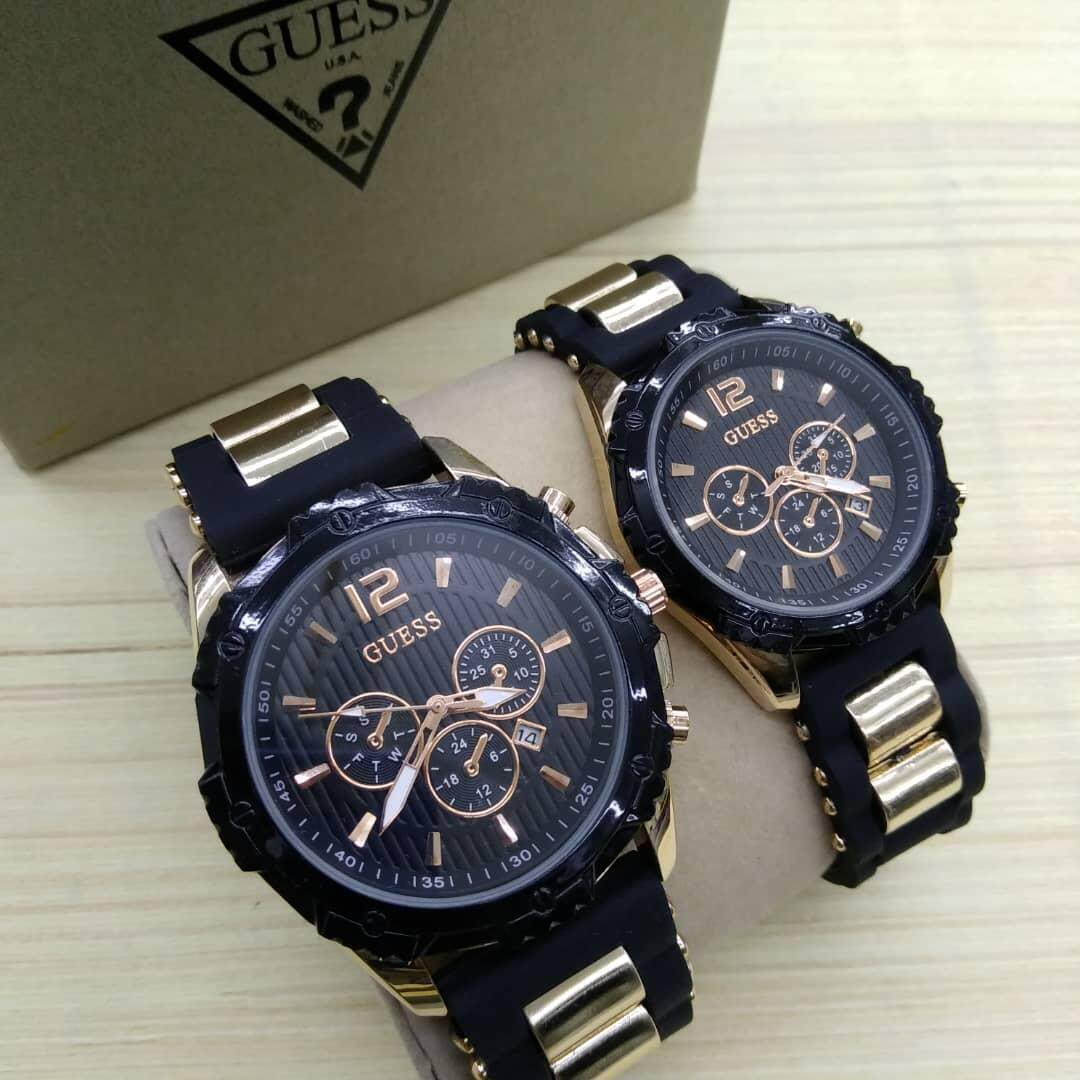 LIMITED EDITION GUESS_ WATCH FOR COUPLES SILICON&STAINLESS STEEL STRAP SPECIAL PROMOTION Malaysia