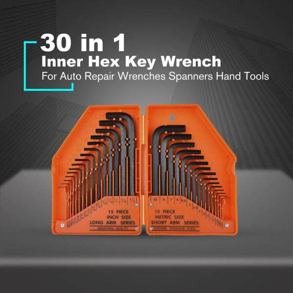 Top Deals 30in1 Inner Hex Key Wrench Torx Hex Allen Key Sets SAE Set Precise Manual Tool