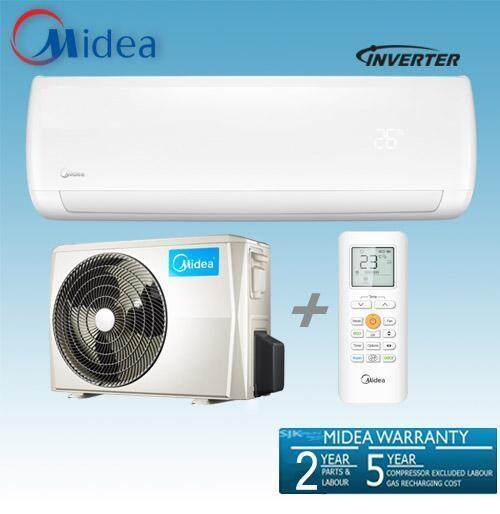 Midea 1.0HP Blanc Inverter Series Wall Mounted Air Conditioner MSMA-09CRDN1