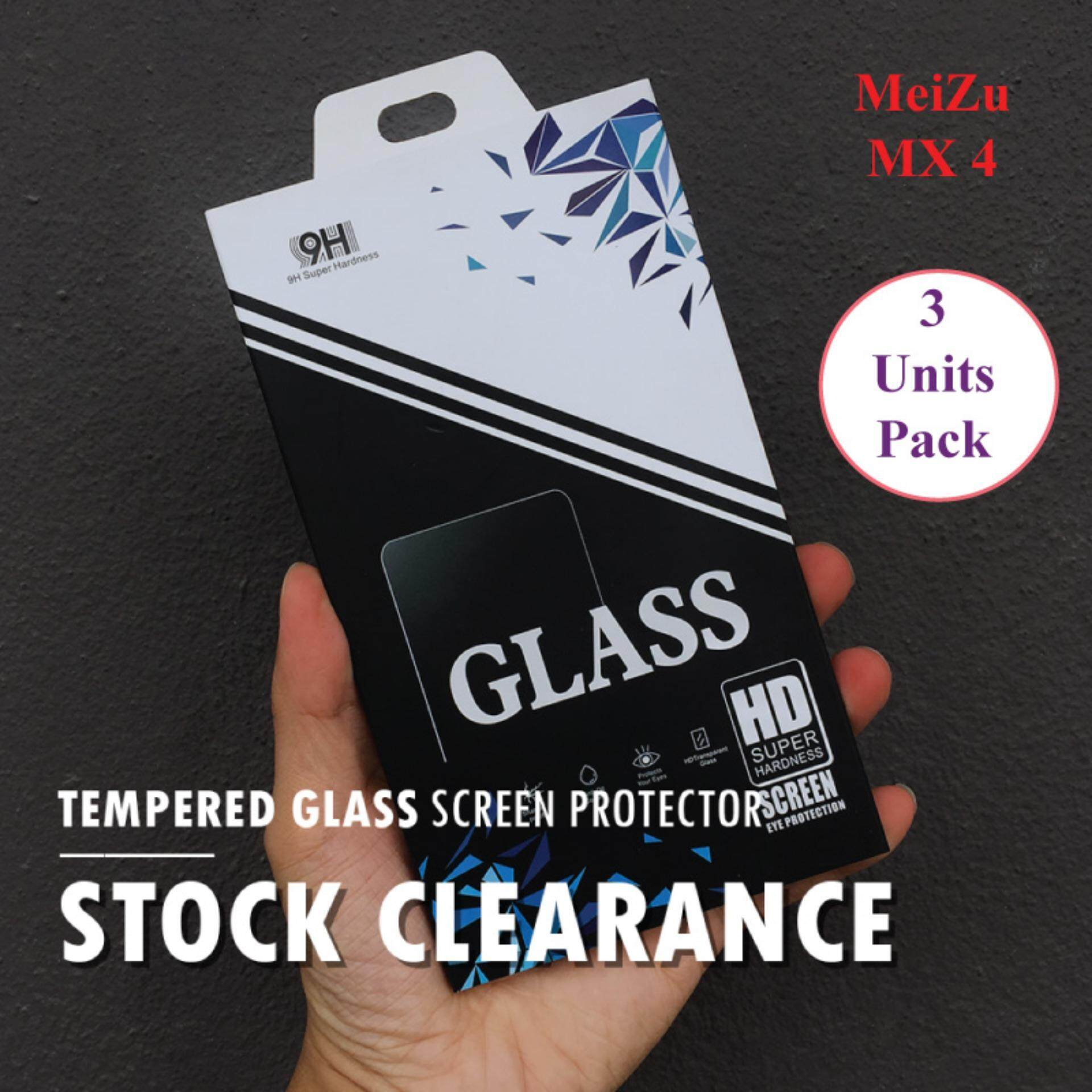 [Clear] Tempered Glass For Meizu MX4 (3 Units Pack )
